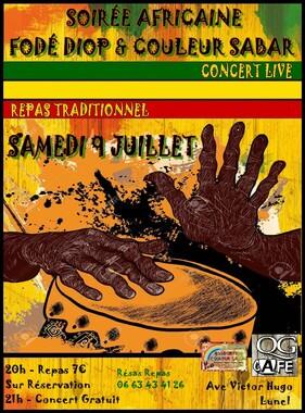 ★ Concerts avec Couleur Sabar [9 - 21 - 30 Juillet 2016]