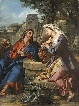 Jésus et la Samaritaine, par Jean-François de Troy, 1742, Musée des Beaux-arts, Lyon
