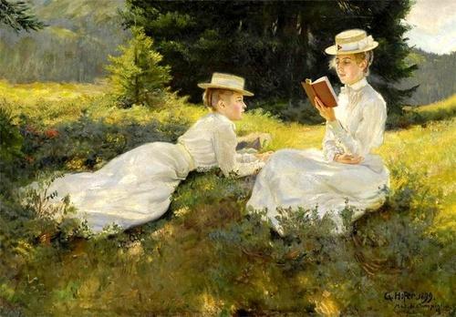 Jeunes filles à la lecture