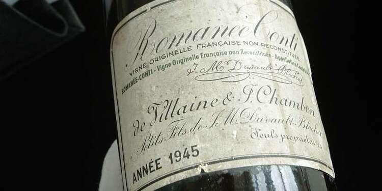 Une bouteille de Romanée-Conti adjugée 558.000 dollars, un record pour du vin