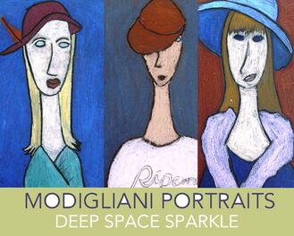 Kids use a simple drawing technique that results in these stunning Modigliani chalk portraits. One of my favorite art lessons.: