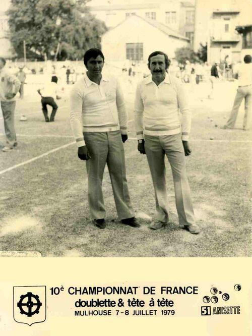 Les qualifiés du 06 en doublettes 1971 à 1999