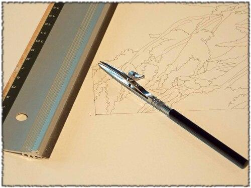 L'usage du drawing gum ou de la gomme à masquer