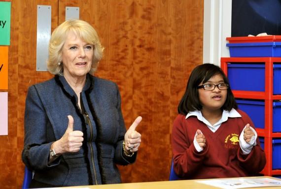 Camilla à l'école