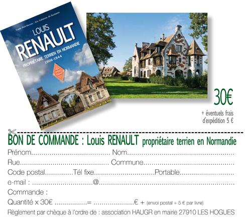 LOUIS RENAULT propriétaire terrien en Normandie