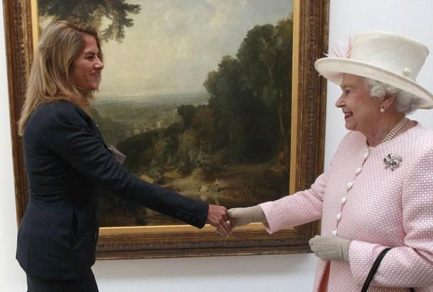 Elizabeth et Philipe au musée