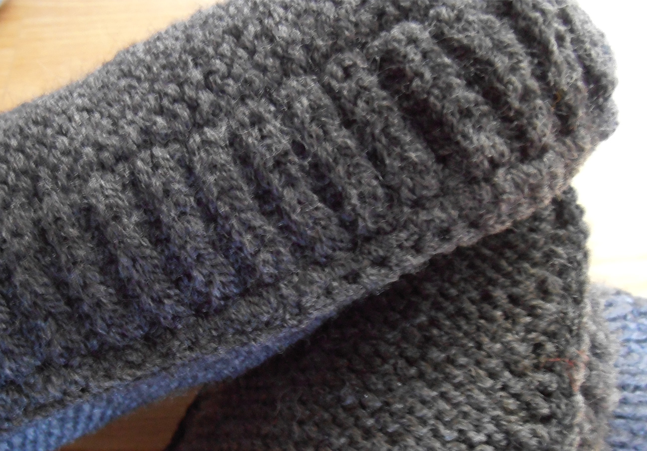 modele tricot chausson homme