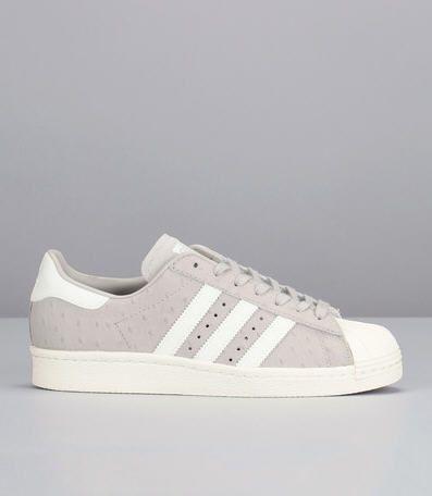 Sneakers grises pois Superstar 80s Gris Adidas Originals prix promo Baskets Femme Monshowroom 130.00 €: