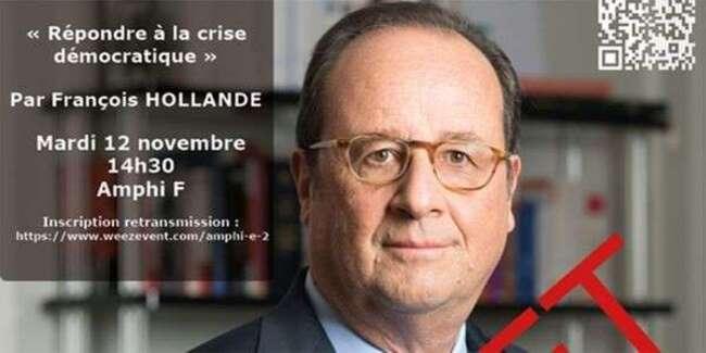 A Lille, des étudiants envahissent la fac et contraignent Hollande à annuler sa conférence