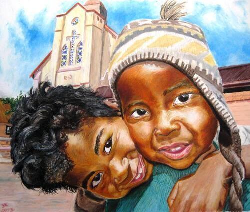 Les enfants de la vielle ville de Fianarantsoa