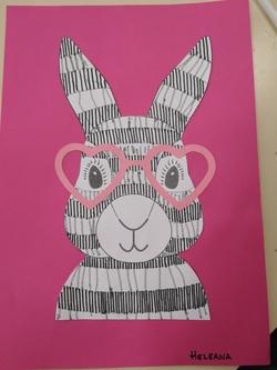 Graphisme: le trait avec le lapin