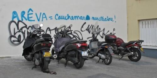 street-art message Areva cauchemar nucléaire