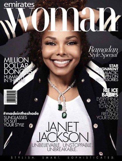 #News Janet en couverture d'un magazine