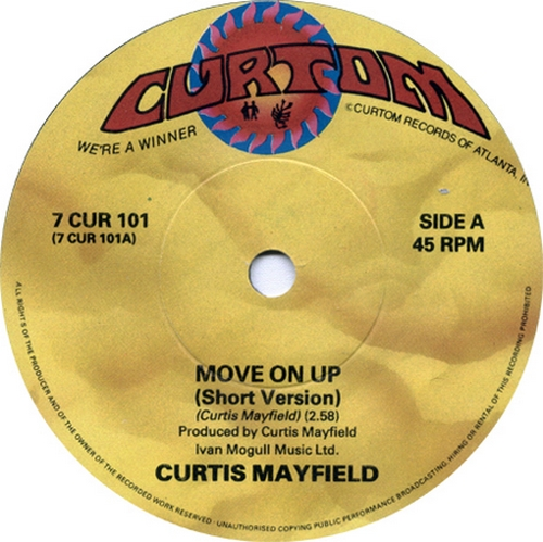 1988 : Single SP et Maxi 12 Inch Curtom Records 7 CUR / 12 CUR 101 [ US ]