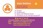 carte de visite Alain Brêthes/école Plénitude