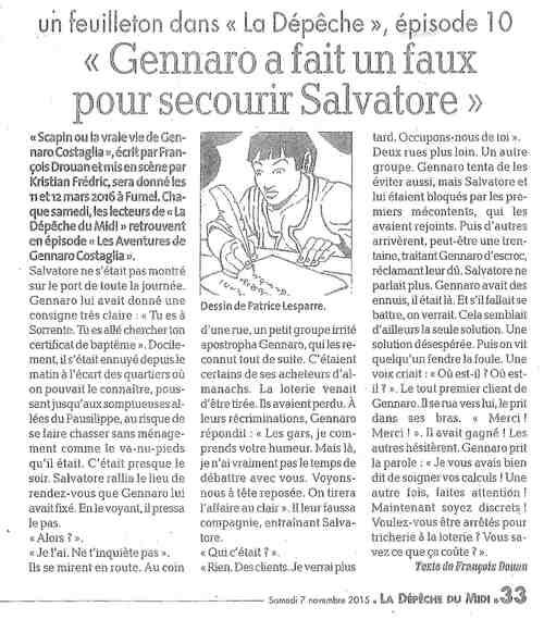 Les aventures de Gennaro Costagliola / Episode 10 / La depêche
