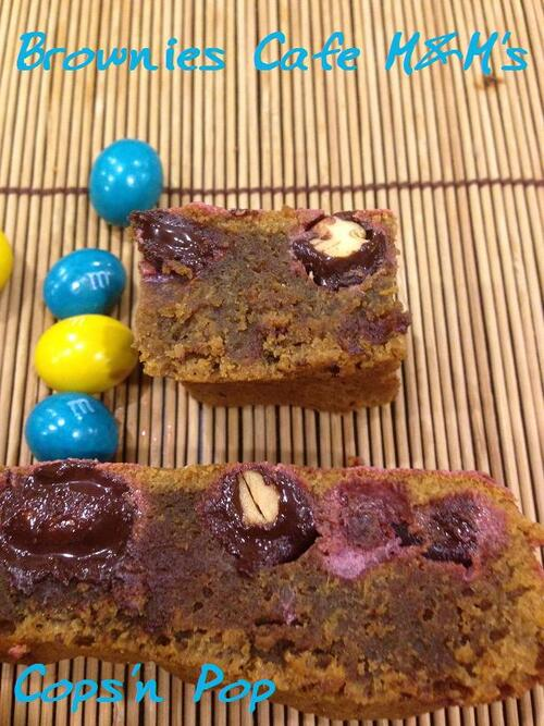 Brownies Café et M&M's
