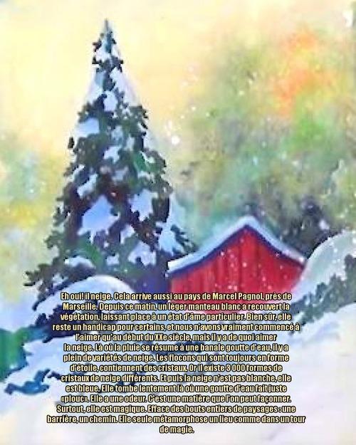 Dessin et peinture - vidéo 3400 : Comment peindre une matinée sous les flocons de neige ? - aquarelle.
