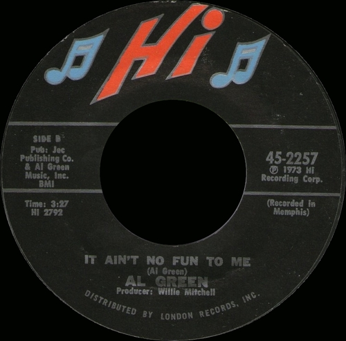 "1973 : Album ""  Livin' For You "" Hi Records ASHL 32082 [ US ]"