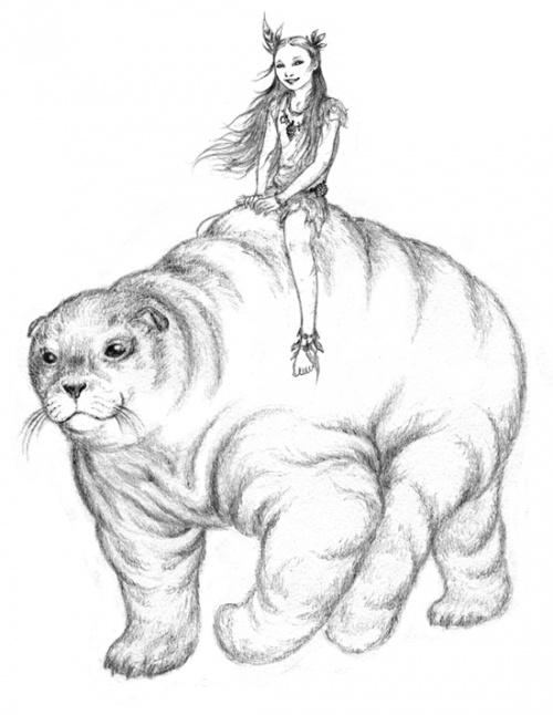 Un dessin spécial pour Numéro IV : Lourine sur son pitar