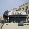 037 Maroc Rabat Pose de la visière
