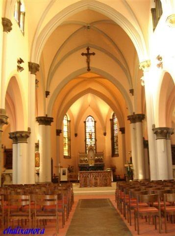 Belgique , Province de Hainaut, église de Houdeng-Goegnies