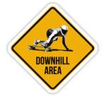 Panneau de signalisation de Downhill