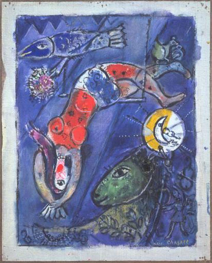 Le Cirque Bleu De Marc Chagall Avec Nos Enfants