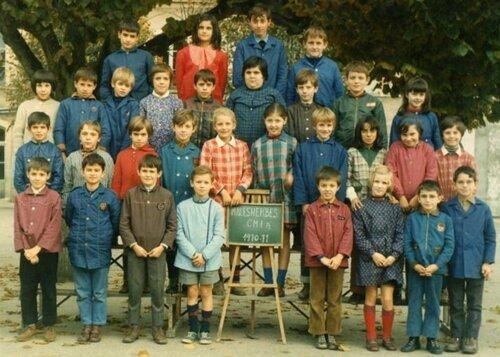 Classe de CM1 1970-1971 à Malesherbes