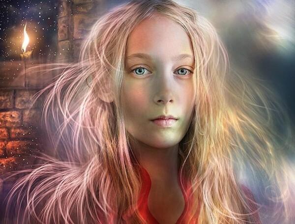 La fée aux yeux bleus  (légende de Provence) ...