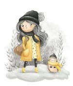 La malle de vos images : Personnage hiver