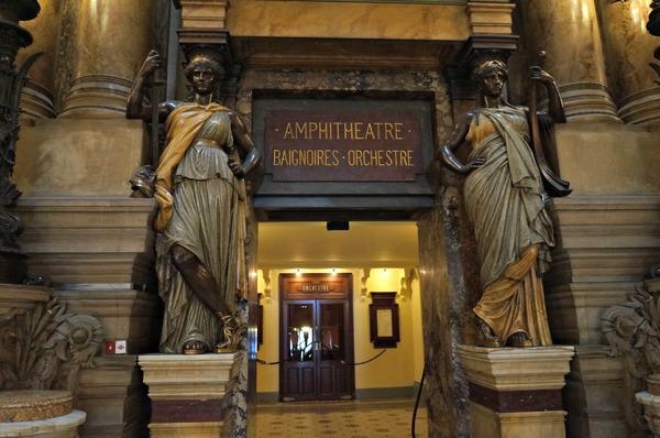 Le Palais Garnier, l'accès à la salle de spectacles