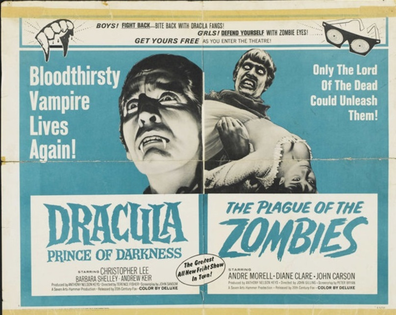 DRACULA PRINCE OF DARKNESS BOX OFFICE USA 1966