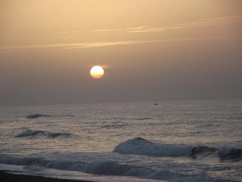 coucher de soleil sur notre plage