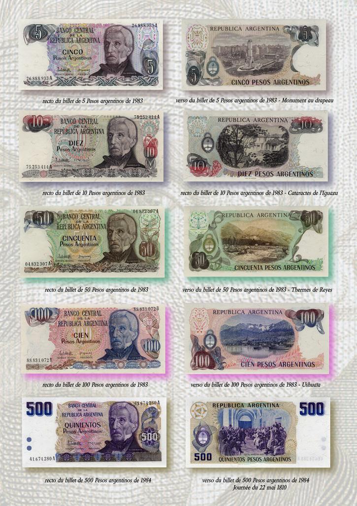 Histoire:  L'Argentine à travers la monnaie  - Le Général José de San Martin