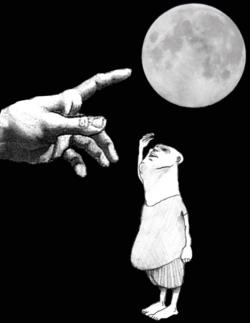 """""""Quand le doigt montre la lune..."""