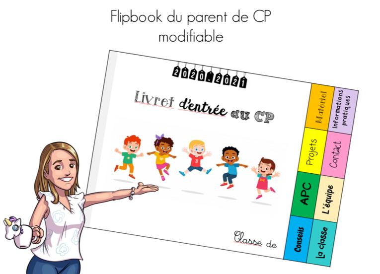 Le flipbook de rentrée des parents de CP