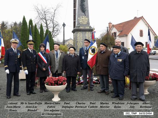 * Cérémonie du 73 anniversaire de la Libération de Champagney le 19 - 11 - 2017