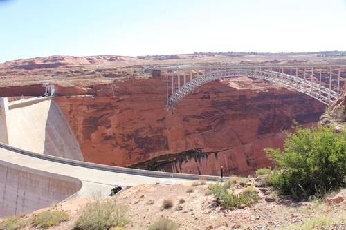 à la frontière de l'Arizona et de l'Utah