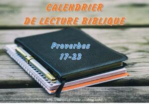 Proverbes 20 - Lecture et Prière