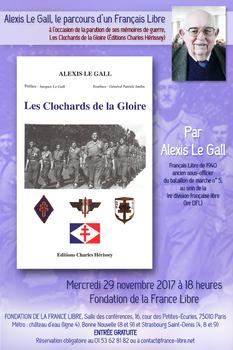 """* Conférence - Alexis Le Gall, l'un des derniers Français Libre de 1940, à l'occasion de la parution de ses mémoires """"Les Clochards de la Gloire"""""""