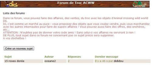 Forum Troc ACWW