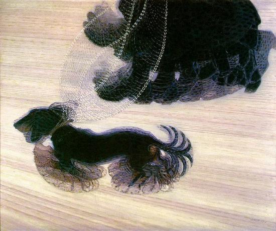 Giacomo Balla, Dynamique d'un chien, 1912