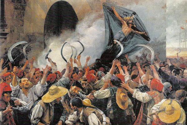 La révolte des moissonneurs ou Segadors (peinture de 1890)
