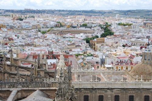 Vues de Séville du haut de la Ziralda