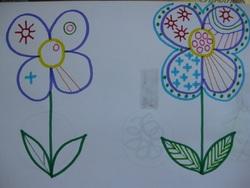 Graphisme fleurs