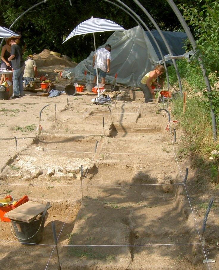 Le chantier de fouilles de Saint-Romain à Martizay en 2013