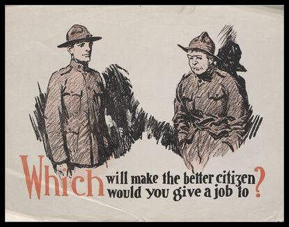 Shocking post-war posters:  WWI Veterans behave yourselves!