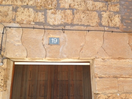 Appareillage très rare d'une plate bande pour les tailleurs de pierre