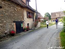 Ce dimanche matin 30 Août , c'était la belle rando de Nicole à Magnac-Bourg